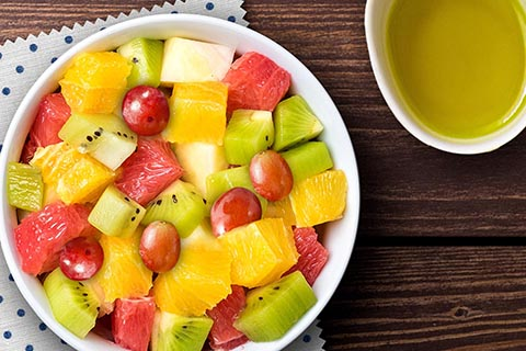 Winter fruits salad
