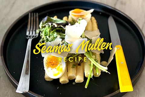 Salad of white asparagus by Seamus Mullen